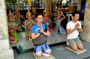 Erawan Shrine's resident dance troupe