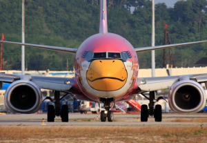 Smile! A Nok Air Boeing 737
