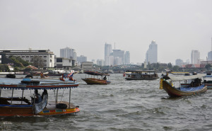 The Busy Chao Phraya River